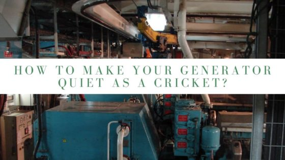 How to Make Your Generator Quiet As A Cricket?