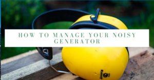 Manage Noisy Generator